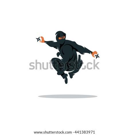 vector ninja cartoon