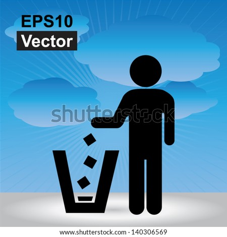 vector   no littering  please