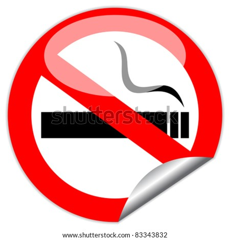 Vector no smoking sign, eps10 illustration