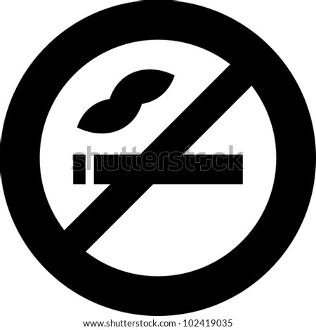 Vector no smoking sign icon isolated