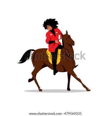 vector north caucasus rider