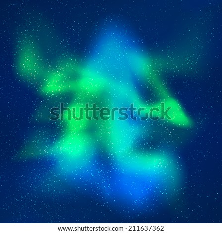 Northern Lights Skyline Vector Northern Lights