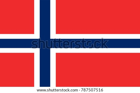 vector norway flag  norway flag