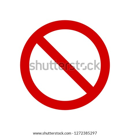 Vector Not Allowed Sign on white background #1272385297