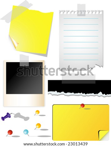 vector note papers