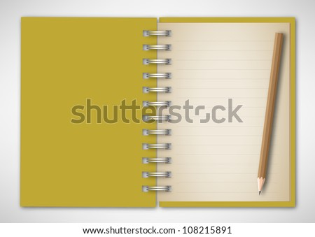 Vector Notebook with Pencil