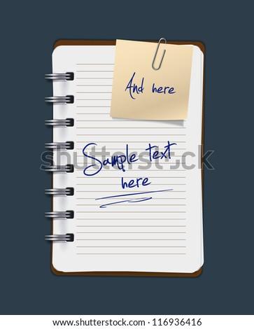 Vector notepad - stock vector