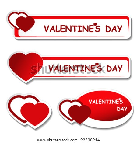 Vector notice board - valentines day label