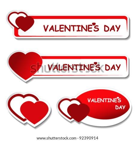 Vector notice board - valentines day label