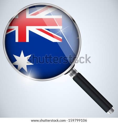 Vector - NSA USA Government Spy Program Country Australia