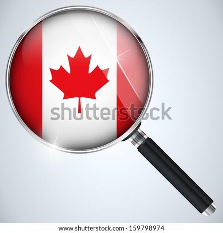 Vector - NSA USA Government Spy Program Country Canada