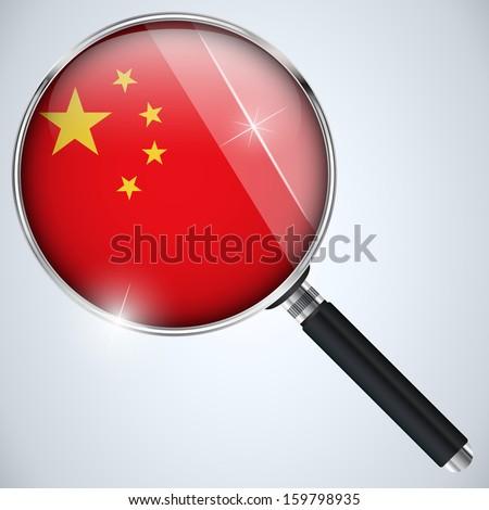 Vector - NSA USA Government Spy Program Country China