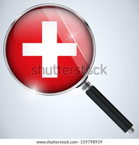 Vector - NSA USA Government Spy Program Country Switzerland