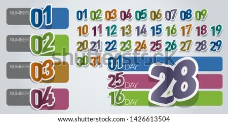 Vector number, paper number, calendar number
