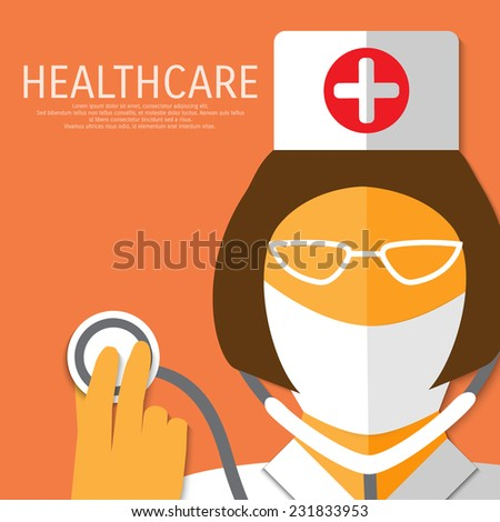 vector nurse with stethoscope