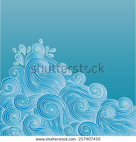vector ocean waves background ez canvas