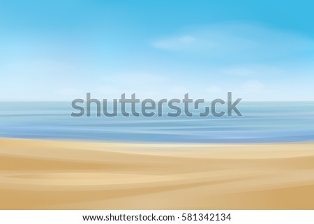 vector  ocean with blue  sky