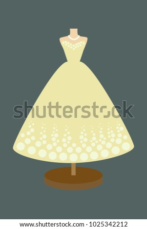 vector of a ball gown long