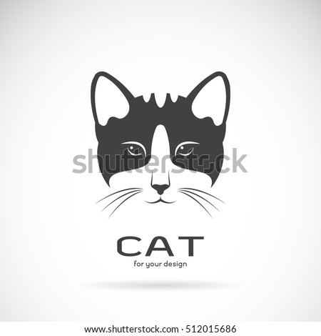 vector of a cat face design on