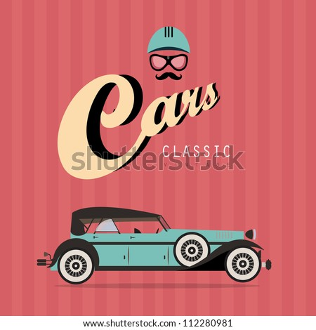 Vector of a classic vintage car