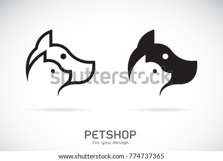 vector of a dog and cat design