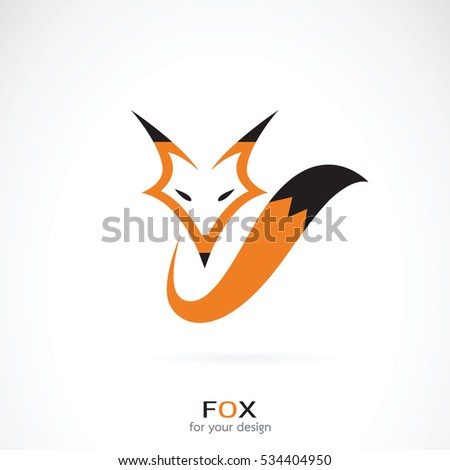 vector of a fox design on a
