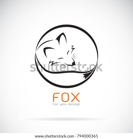 Vector of a fox design on white background. Wild Animals. Easy editable layered vector illustration.