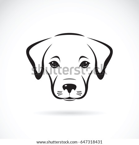 Vector of a labrador puppy face on white background. Dog. Pet