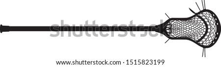 Vector of a men's lacrosse stick. Lacrosse head, pocket, and lacrosse shaft.  Stockfoto ©