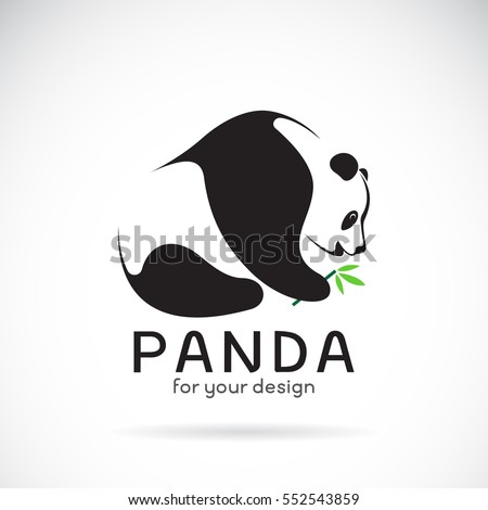 vector of a panda design on a
