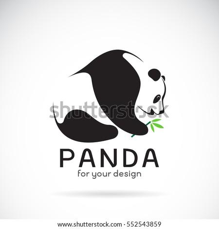 vector of a panda design on a