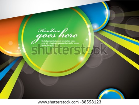 vector of abstract background and elements