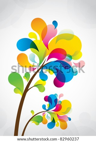 Vector of abstract flower icon