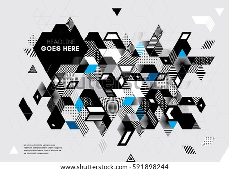 Vector of abstract geometric background #591898244