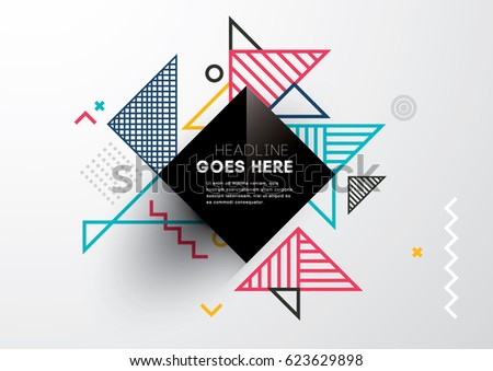 Vector of abstract geometric pattern and background - Shutterstock ID 623629898