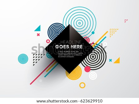 Vector of abstract geometric pattern and background - Shutterstock ID 623629910