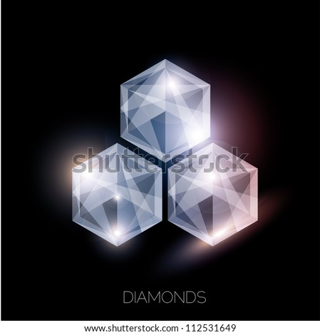 vector of abstract jewelry background - stock vector