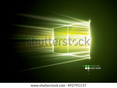 vector of abstract window