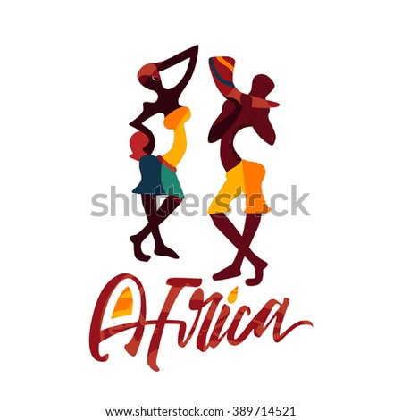 vector of african couple