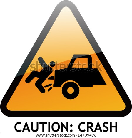 vector of alert sign 7 crash