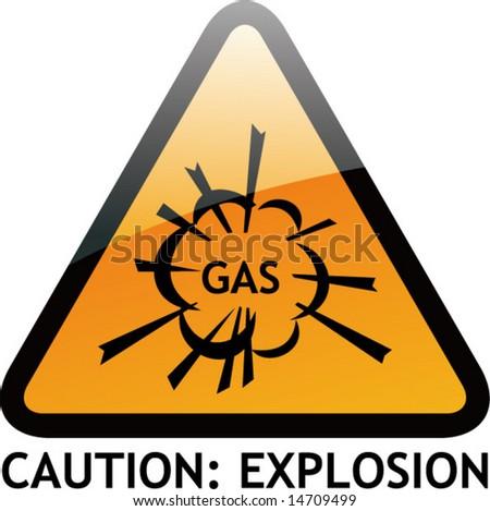 vector of alert sign 8 explosion