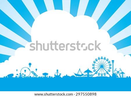 Vector of amusement park background