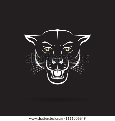 vector of an angry panther head