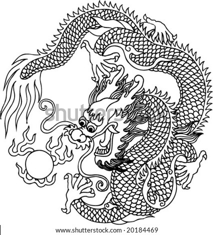 vector of ancient chinese