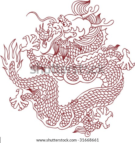 Chinese Patterns Vector Chinese Dragon Pattern