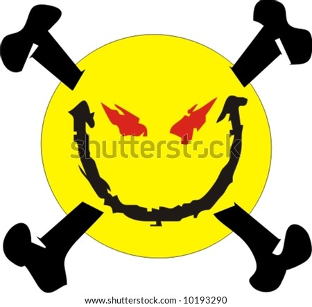 vector of bad smiley