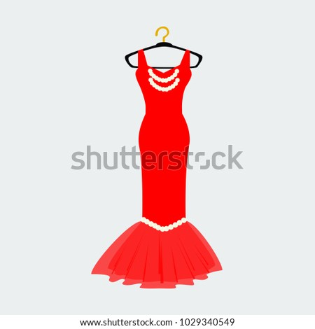 vector of ball gown long on