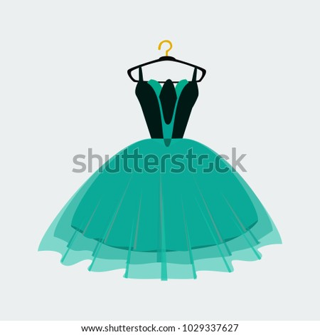 vector of ball gown on hanger