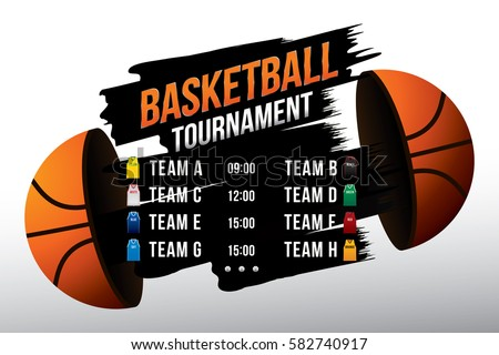 vector of basketball match with