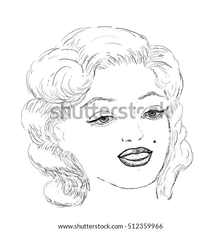vector of beautiful woman face